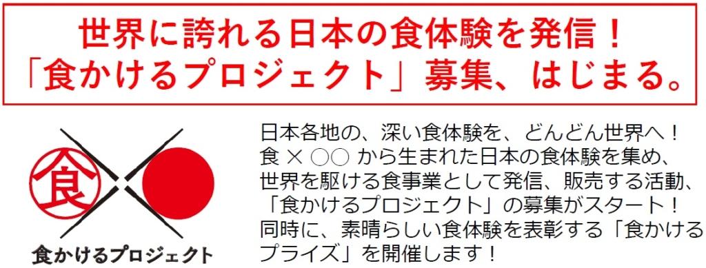 世界に誇れる日本の食体験を発信!「食かけるプライズ」募集中。_記事サムネイル