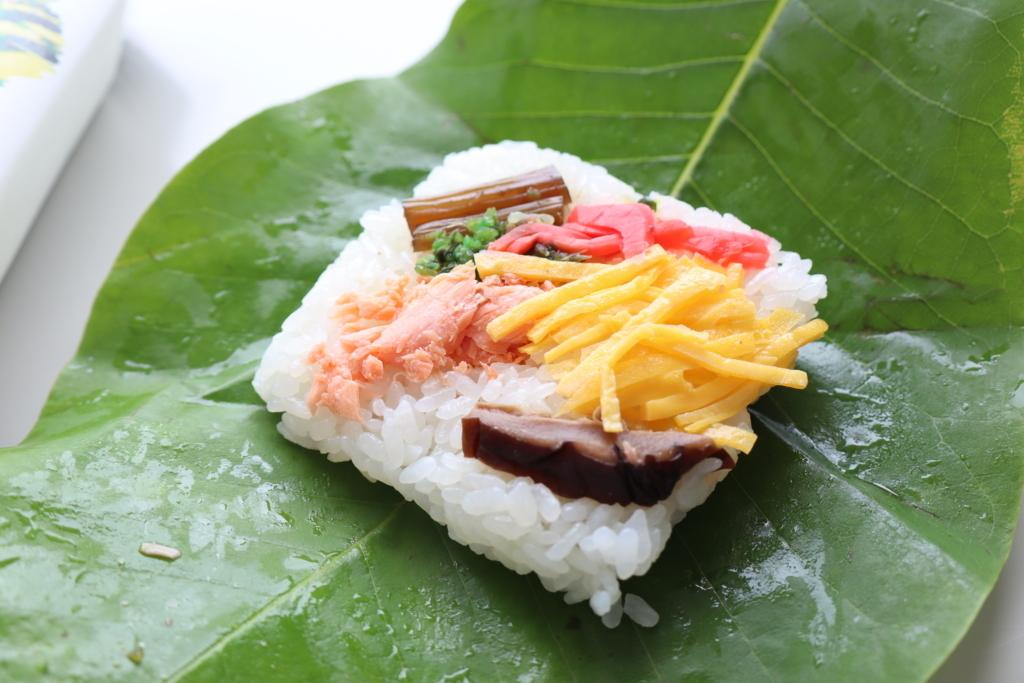 不動滝の朴葉寿司