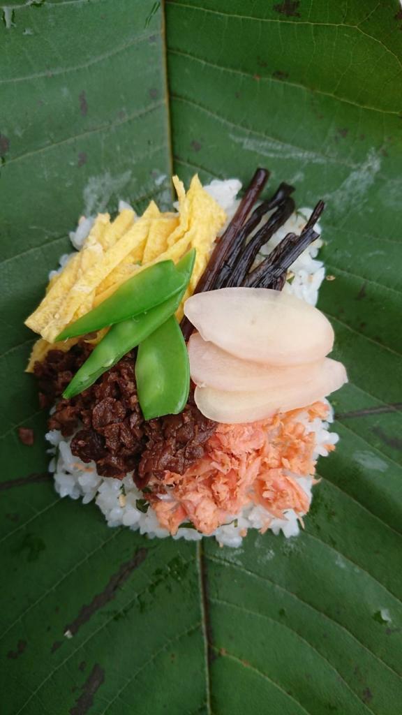 大井宿の朴葉寿司