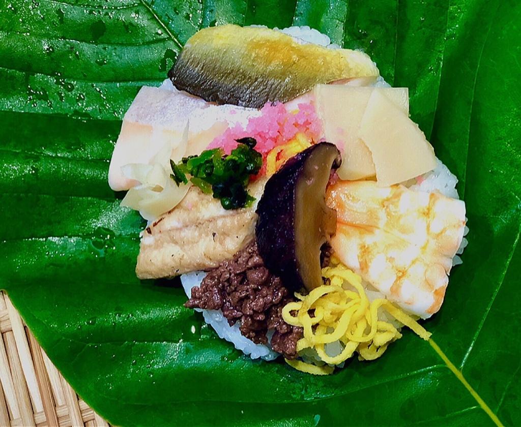 寿司幸の朴葉寿司